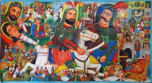 نقاشی پرده خوانی از سید حسن بدیعی نامقی