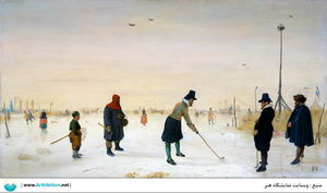 Skaters playing kolf  Hendrick avercamp