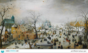 Winter Landscape with Ice Skaters  Hendrick avercamp