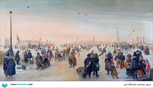 Enjoying the Ice near a Town  Hendrick avercamp