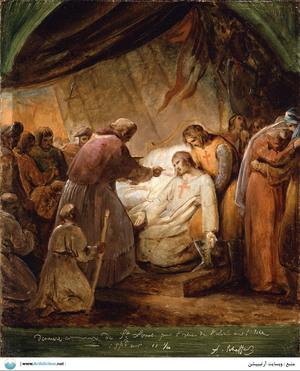 The Last Communion of Saint Louis   Ary Scheffer
