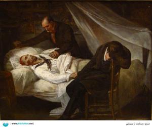 The death of Théodore Géricault  Ary Scheffer