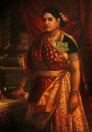 Rani Lakshmi Bayi of Travancore  Raja Ravi Varma