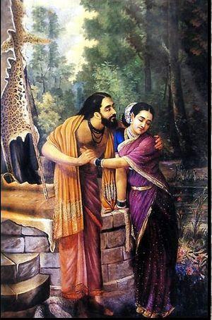 Arjuna and Subhadra  Raja Ravi Varma