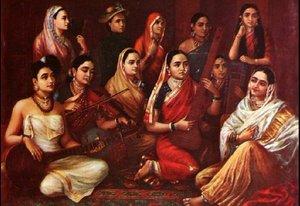 Galaxy of Musicians  Raja Ravi Varma