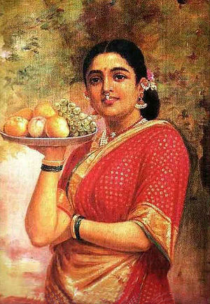 The Maharashtrian Lady  Raja Ravi Varma