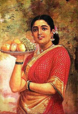 The Maharashtrian Lady  Raja Ravi Varma