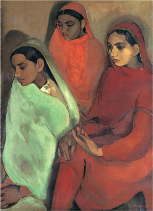 Group of Three Girls  Amrita Shergill
