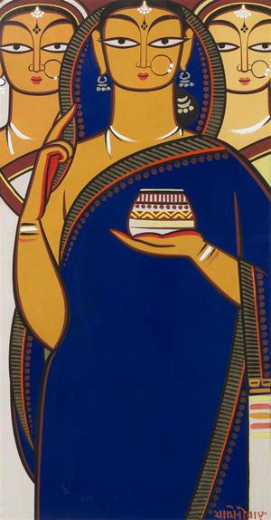 Three Bengali Women  Jamini  Roy