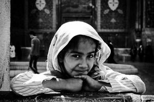 White scarf  shahrouz heidari
