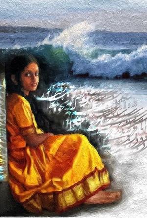 The girl and sea  mehdi darvishalipour