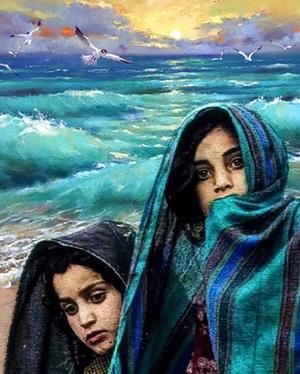 Migratory birds roaring sea  mehdi darvishalipour