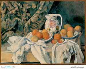 Still Life with a Curtain  Paul  Cézanne