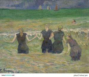 Women Bathing  Paul  Gauguin