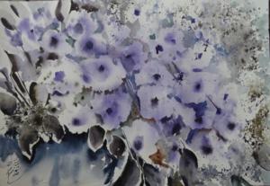 Violet flowers  Shahla Rashidian