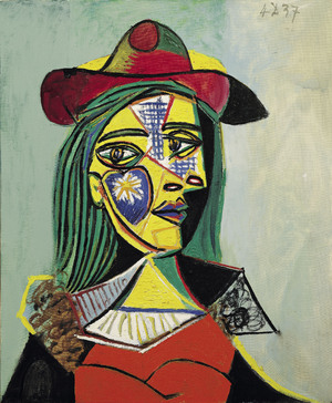 Woman in Hat and Fur Collar  Pablo Ruiz y Picasso