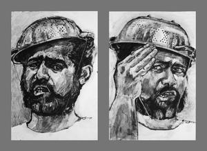 به چپ به راست خبردار  (از مجموعه سلف پرتره) از می سم نژادرسولی