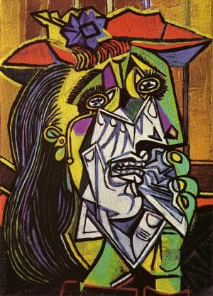 weeping woman  Pablo Ruiz y Picasso