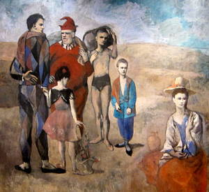 Family of Saltimbanques  Pablo Ruiz y Picasso