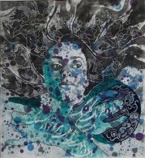 باده ی گلرنگ خوشخوار سبک، از مجموعه ی شعرنگاره های دیوان حافظ از می سم نژادرسولی