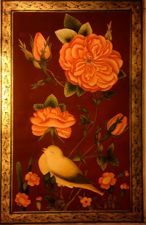 flower and bird  luisa afshanfar