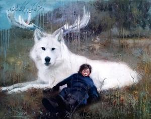 Chit and white wolf  Yaser Mirzaee