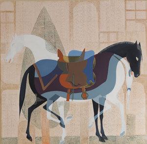 دو اسب مینیاتوری از محمد هادی فدوی
