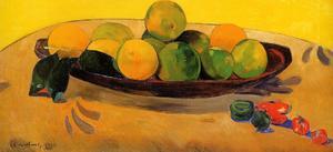 Nature morte aux fruits et piments   Paul  Gauguin