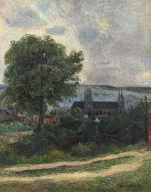 Rouen, L'Eglise Saint-Ouen  Paul  Gauguin