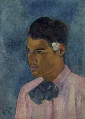 Jeune homme à la fleur  Paul  Gauguin