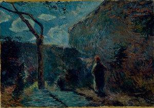 Un coin du mur (effet de nuit)  Paul  Gauguin