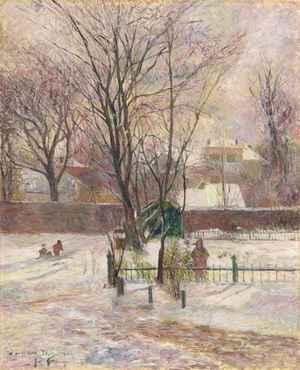 La neige à Copenhague  Paul  Gauguin