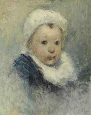 Portrait d'enfant, peut-être Aline Gauguin  Paul  Gauguin