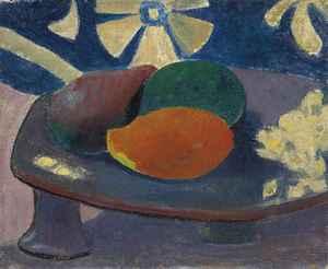 Nature morte aux trois fruits  Paul  Gauguin