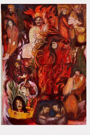 Siavash in fire (Shahnameh)  tarane sadeghian-broojeni