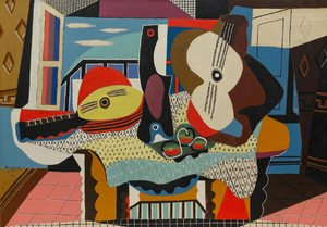 Mandolin and Guitar  Pablo Ruiz y Picasso