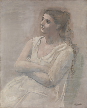 Woman in White  Pablo Ruiz y Picasso