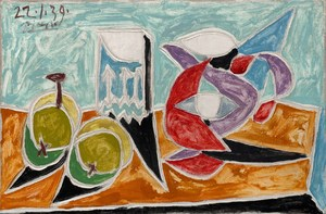 Still Life: Fruits and Pitcher  Pablo Ruiz y Picasso