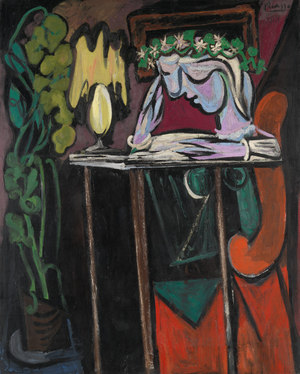 Reading at a Table  Pablo Ruiz y Picasso