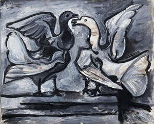 Two Doves with Wings Spread   Pablo Ruiz y Picasso