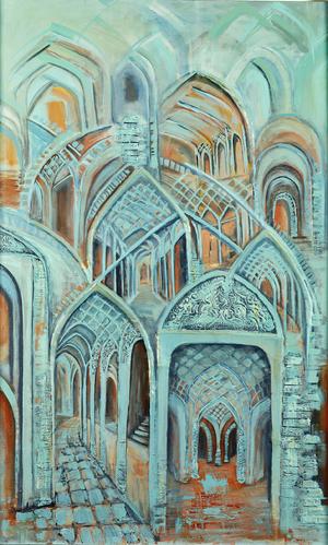 turquoise arches  Shahla Rashidian