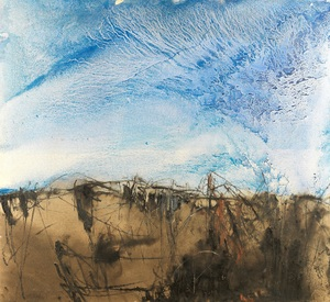 Abstract Landscape with Blue  farideh lashai