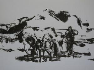 The old farmer in a winter day  ghader Mansoori