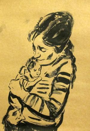 Mother and child &#342&#34  ghader Mansoori