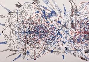 2 from Demiurge series 2015 ink on cardboard work size 70x50 cm frame size 75x55 cm  Mohamadreza Ahmadi Monfared