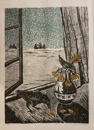 Snow Beyond The Window  Parvin Hanitabaei