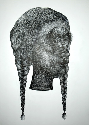 Girl with braided hair  naji ariafar