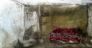 red sofa  rojano mohamadzade