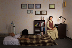The girl and his sick father  Arsham Rezaei