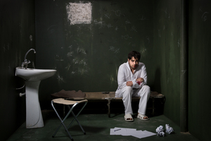 man in prison  Arsham Rezaei
